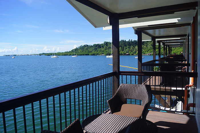 Enjoy the ocean view from Mangrove Bay Hotel's rooms